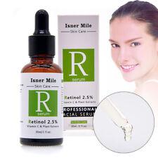 PURE RETINOL VITAMIN E 2.5% Facial Face Serum Cream Anti Aging Wrinkle Acne