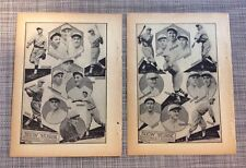 Rare 1929 New York Giants Team Pictures -Spaulding Baseball Guide Ott, Hubble
