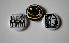 "Nirvana Kurt Cobain rock music band Pin Pinback Buttons 1"" jacket backpack Badge"