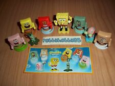 SPONGEBOB COMPLETE SET OF 8 WITH ALL PAPERS KINDER SURPRISE 2017