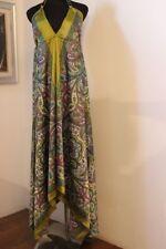 Abito lungo mare dress ibizenco Ibiza Lombok tg. Unica raso-polyester Chandra15