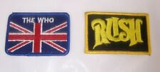 Rush and The Who Vintage Embroidered Patches Rock 'n Roll