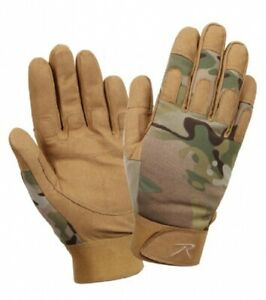 Army Gloves Lightweight All Purpose Duty Gloves Multicam Camouflage Size M