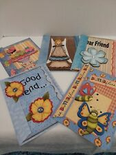 Lot of 5 Handcrafted Layered 3-D Friendship Cards Matching Envelopes