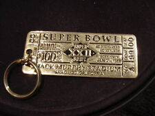 VERY RARE Washington Redskins Super Bowl XXII Gold Ticket Keychain, NICE!!
