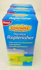 Emergen-C Electrolyte Replenisher Lemon-Lime 8-.33 oz Packets 3 pack Exp 07/2020
