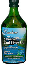 Norwegian Cod Liver Oil, Carlson, 500 ml Regular