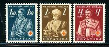 CROATIA # B3 - B5  Mint NH Complete 1941 RED CROSS Set $4.50 Retail Value