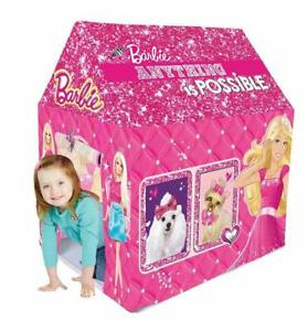 Barbie Kids Play Tent House, Multicolor Free Shipping US