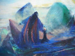 Oil Painting- Michael Stevenson-Key To The Path-Oil Crayon/Pastel 1996    P27