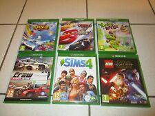 Xbox One Spielesammlung, Cars, Lego, Sims, usw., 6 Stück, komplett, alle Defekt