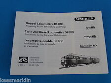 Marklin DL 800  Replica booklet 0355