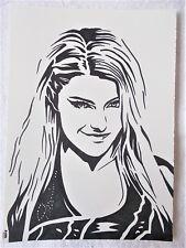 A4 Bolígrafo Marcador De Arte Dibujo Alexa Bliss Hembra Luchador Cartel