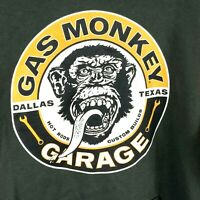 Gas Monkey Garage Authentic Men's Medium Brown/Yellow Hoodie Sweatshirt