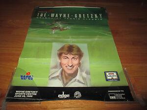 1986 Labatt's presents the WAYNE GRETZKY Celebrity Tennis Poster EDMONTON OILERS
