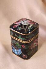 Chinese cloisonne enamel box. Parallelepiped. S.XX Caja china esmalte cloisonné.
