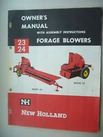 Original New Holland model 23 24 Forage Blowers Owner's Manual 12 pages