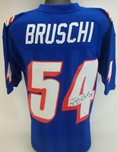 Tedy Bruschi Signed Mitchell & Ness NFL Patriots 1996 Throwback Jersey Fanatics