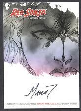 RED SONJA TRADING CARDS (BREYGENT/2012) AUTOGRAPH CARD #RSA-MMB MARAT MYCHAELS