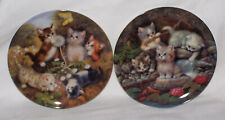 2 German Porcelain Cat Plates #3