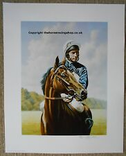 A Fine Study of Ardross & Lester Piggott Limited Edition Picture Roy Miller