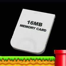 16mb 16m Practical Memory Card for Nintendo Wii GameCube GC NGC Game White