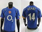 2004-06 GUNNERS nike Arsenal FC London Away Football Shirt HENRY SIZE S (adults)