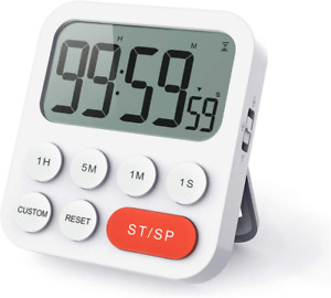 Digital Eieruhr 2H5 Kuechentimer Timer mit Lauter Alarm up und down Funktion