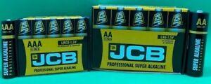 JCB INDUSTRIAL PRO AA & AAA ALKALINE BATTERIES LR6 LR03 LONGEST EXPIRY