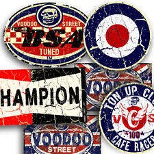 CAFE RACE BSA STICKER RUST PACK BY VOODOO STREET™, BSA, brat, pick n mix, TT