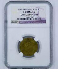 1944 Venezuela 12.5 Centimos Coin - Au Details - Ngc Bolivar