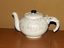 Gray Ceramic Elephant Tea Pot