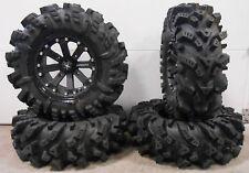 "MSA Black Kore 14"" UTV Wheels 30"" Intimidator Tires Kawasaki Mule Pro FXT"