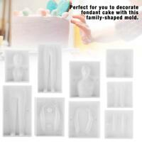 3D People Shaped Cake Figure Mold Family Set Human Body Decorating Mould