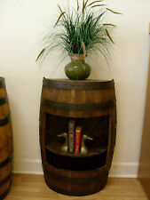 Half White Oak Whiskey Barrel-Display-Open Front Cabinet Table-Foyer Table