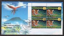 1998 United Nations Rainforest First Day Cover - Parrot, Jaguar