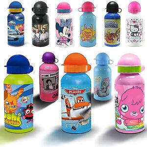 Disney  & Kids TV Character Aluminium School Lunch Water Bottle Brand New Gift