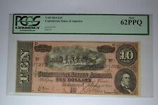 T68 $10 1864. Pcgs New 62Ppq
