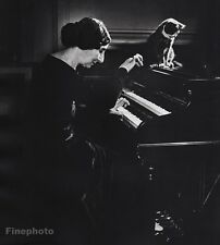 1944 Vintage 16x20 WANDA LANDOWSKA Poland Harpsichord Music By PHILIPPE HALSMAN