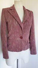 Ladies Pink Tweed Blazer Jacket By REDGREEN 38 UK 12 Country Style Casual