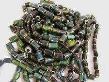 Mood beads heat sensitive color change metal beads 20 bead lot 7-12x10mm