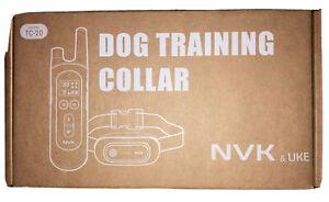 NEW NVK TC-20 Waterproof Dog Training Shock Collar Remote Black Rechargeable NIB