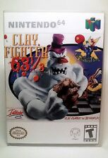 Clay Fighter 63 1/3 - N64 Game Case Nintendo (NO GAME)