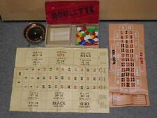 Antique William Adler CO Roulette Table Top Casino Style Board Game W/Box 1940's