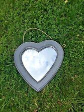 Shabby Chic Wooden Heart Mirror