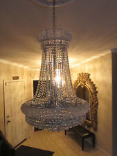 Crystal Chandelier French Empire style K9 Crystal 24W 36H 12 lights CLEARANCE