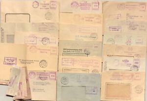 18 ZKD Briefe mit lila AFS Absenderfreistempel 1958 /1971 DDR