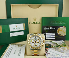 ROLEX 2017 18kt Gold & Stainless DAYTONA White Index BOX CARD 116503 SANT BLANC