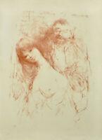 Bachmann: Ohne Titel. Paar [19]71. Signierte Original-Farblithografie.