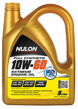 Box Of 3 Nulon Full Synthetic 10W60 Extreme Engine Oil 5L SYN10W60-5
